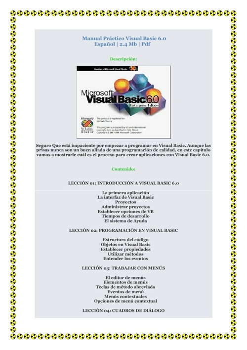Manual Práctico Visual Basic 6
