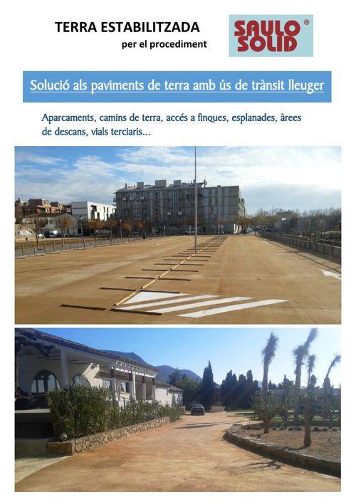 SAULO SOLID - paviment de terra estabilitzada, trànsit rodat i v
