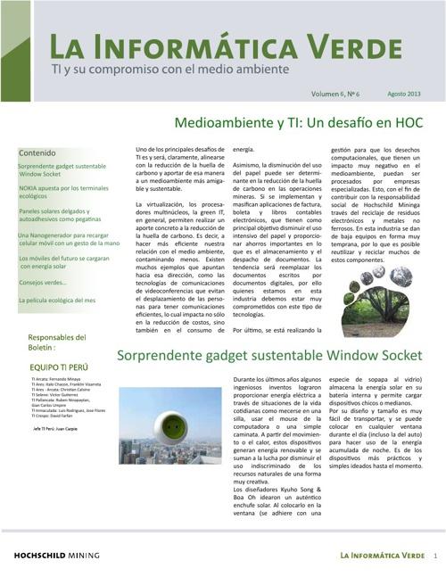 Boletín La Informatica Verde