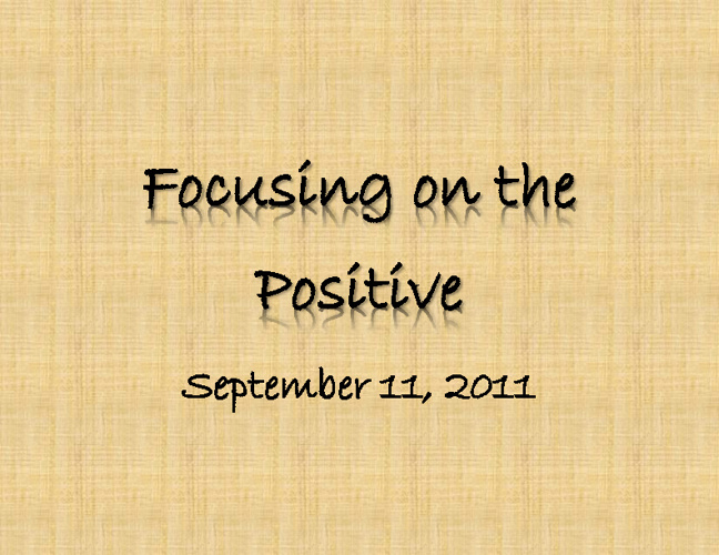 "Sample ""Focusing on the Positive"" Book"