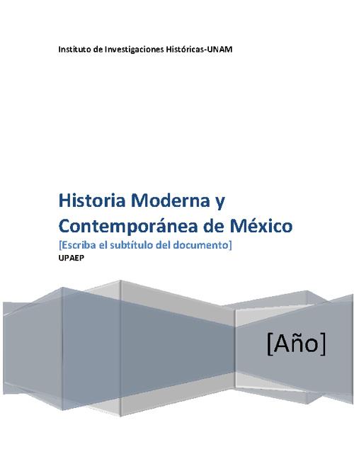 Estudios Historia Moderna y Contemporánea