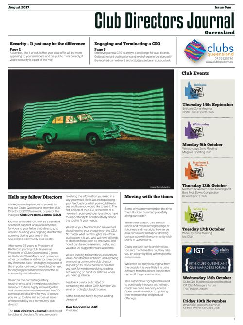 Club Directors Journal: Issue One