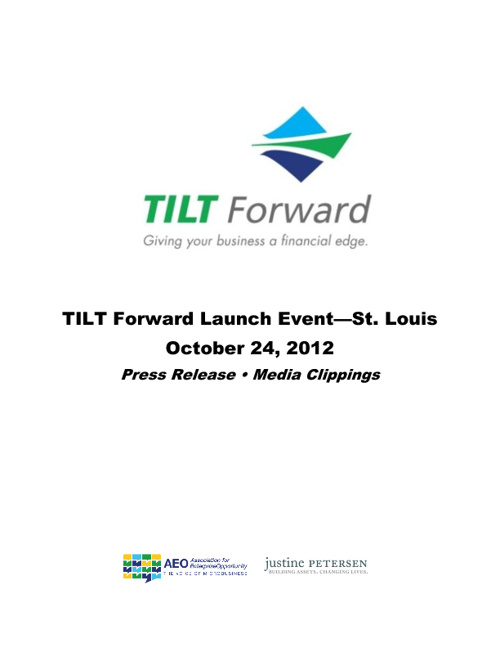 TILT Forward | St. Louis Launch Press Clippings