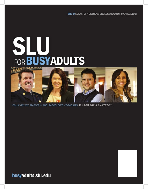 SLU for Busy Adults  2013 - 2014 Catalog