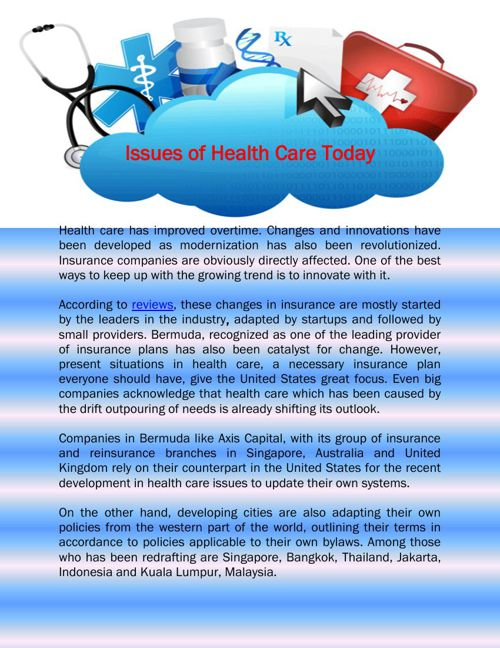 Issues of Health Care Today