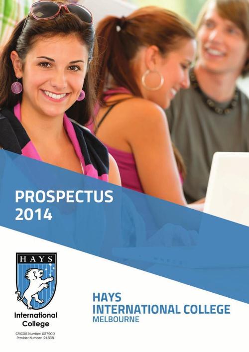 Hays International College - Brochure Design