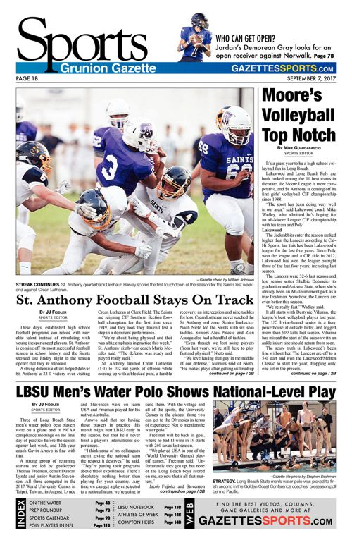 Gazette Sports | September 7, 2017