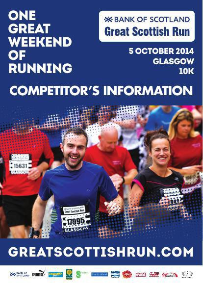 Bank of Scotland Great Scottish Run 2014 - 10K On The Day Guide