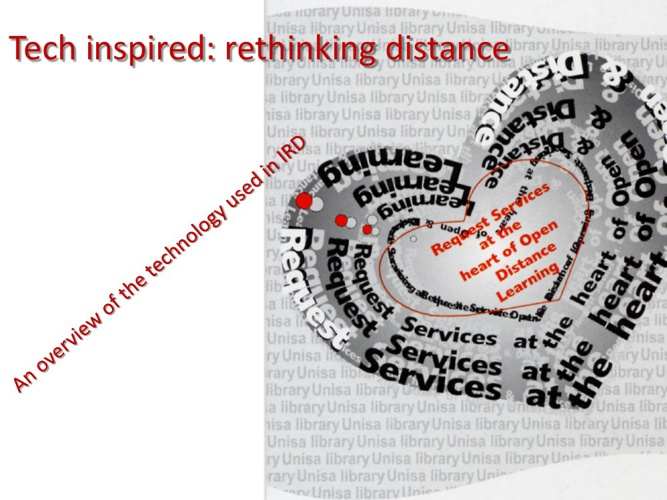 Tech inspired: rethinking distance