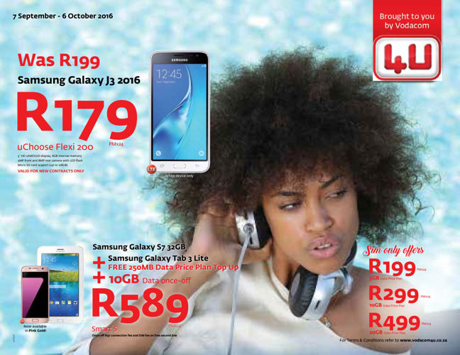 Vodacom4U (7 September - 6 October 2016)