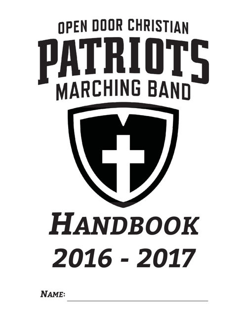 2016-2017; Band Handbook