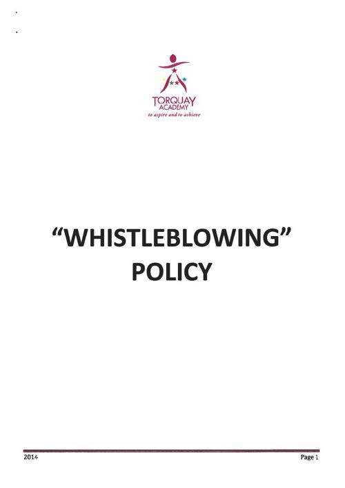 Whistleblowing Sept 2014