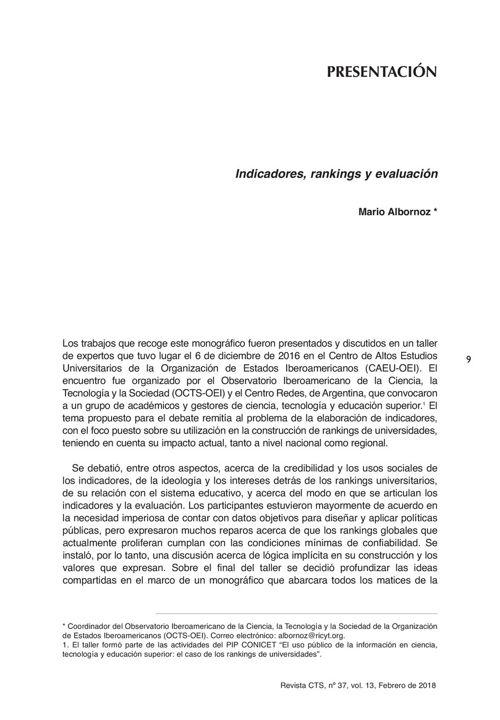 VOL13/N37 - Presentación monográfico