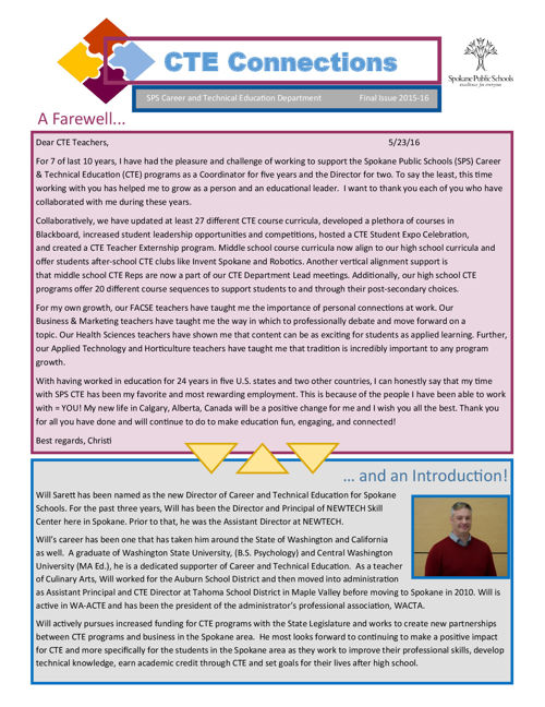 Newsletter CTE Connnections-End of 2015-2016