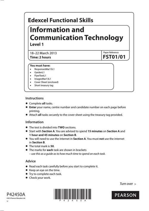 ICT L1 practice paper
