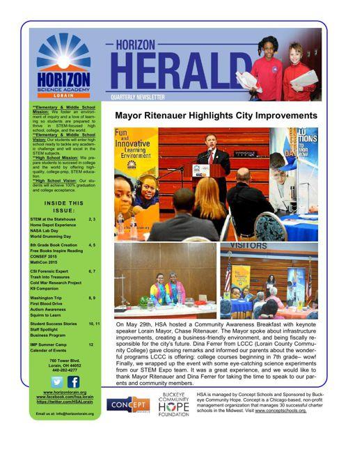 4th Quarter News Letter 14-15
