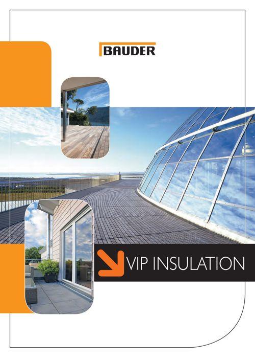 Vacuum Insulation Panel - Bauder