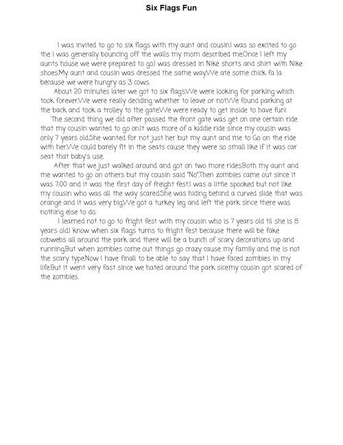 Middle School Diaries Writing Portfolio Cristian Quijano
