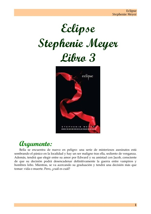 Eclipse - Saga Crepusculo. Stephenie Meyer