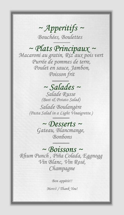 SLT Christmas Menu