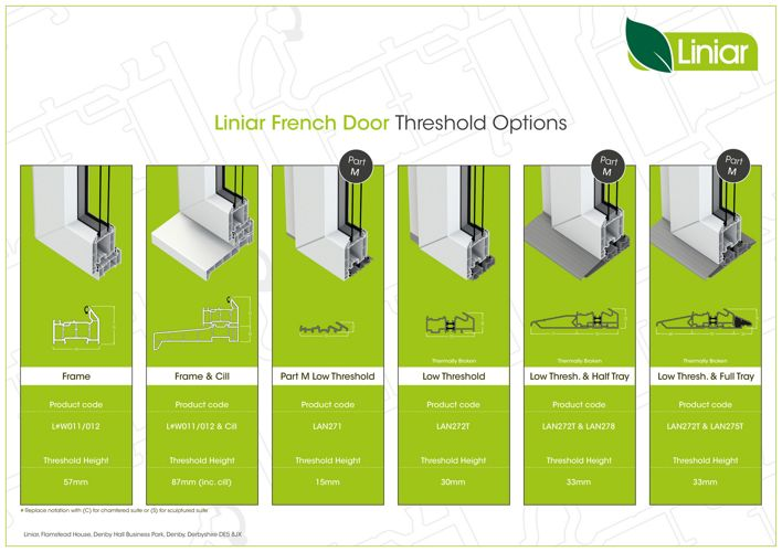 Liniar - French Door Threshold Options