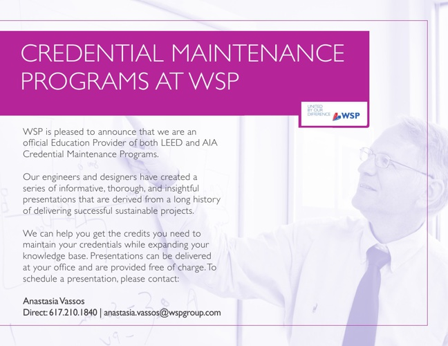 WSP Boston - Credential Maintenance Programs
