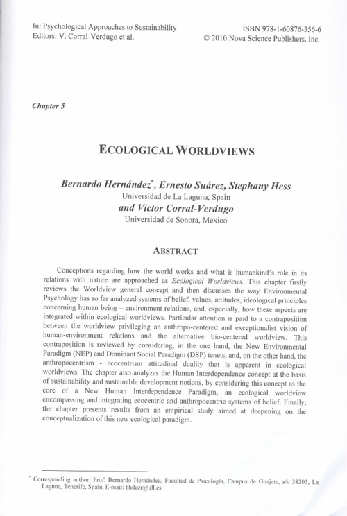 Chapter 5. Ecological Worldviews