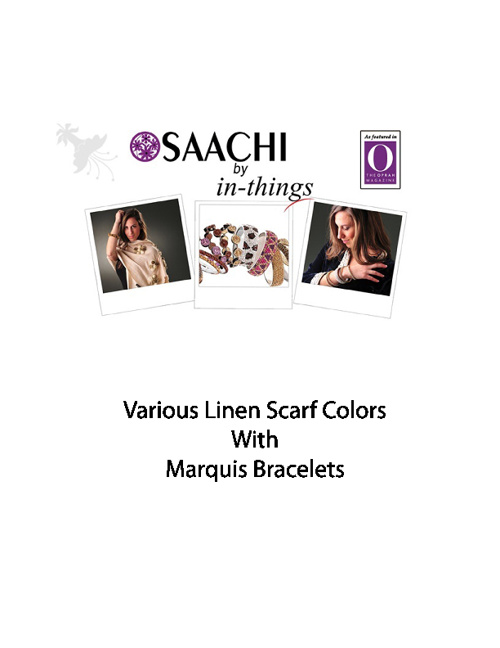 Linen Scarf With Bracelets