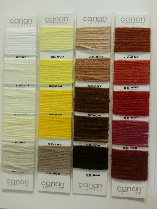 Canan tekstil Elörgü kartelası