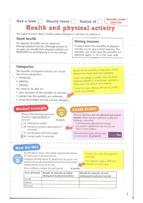 P.E Revision Guide