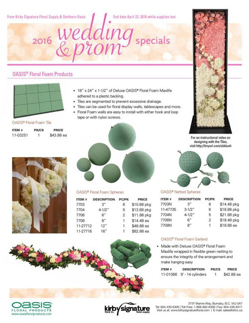 2016 Wedding & Prom Specials