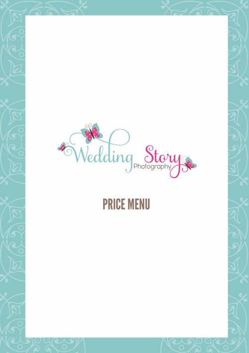 Wedding Price Menu