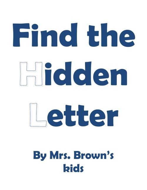 MT Brown hidden letter book 2012-2013