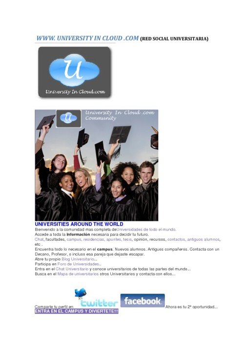 NEWS EN www. UNIVERSITY IN CLOUD.com