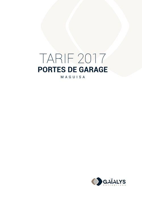 Tarif 2017 portes de garage MAGUISA