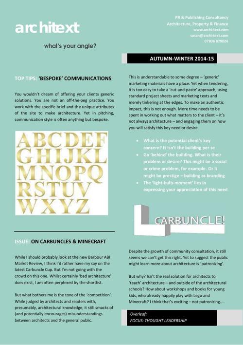 architext pr current & previous newsletters