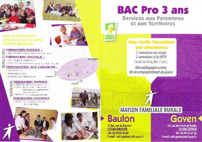 BAC PRO SAPAT MFR GOVEN Flyer