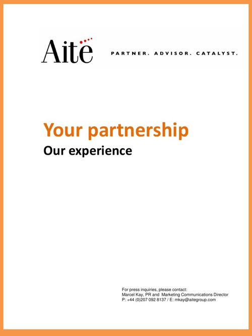 Aite Group analyst background document 2013