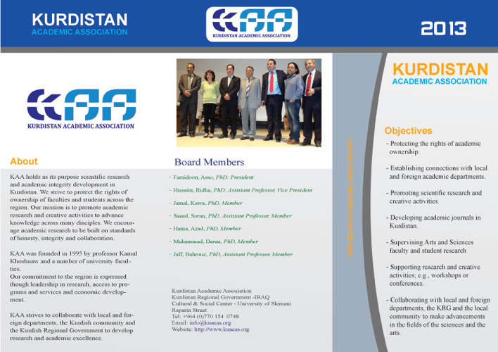 KURDISTAN ACADEMIC ASSOCIATION BROCHURE