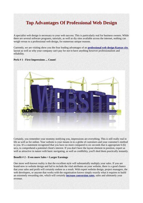 Top Advantages Of Professional Web Design