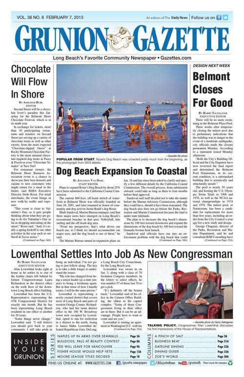 Grunion Gazette | February 7, 2013