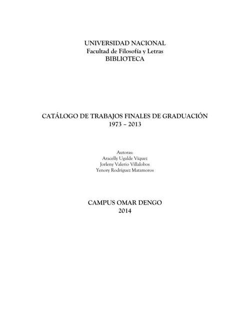CATÁLOGO TESIS FACULTAD FILOSOFIA