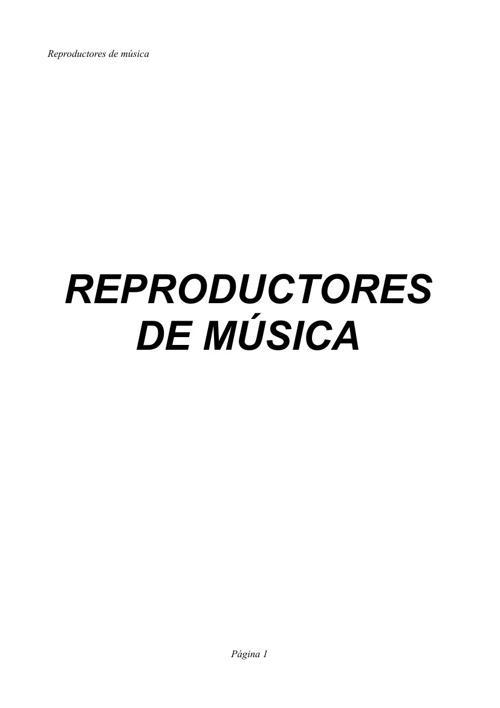 Mi libro digital sobre reproductores de música