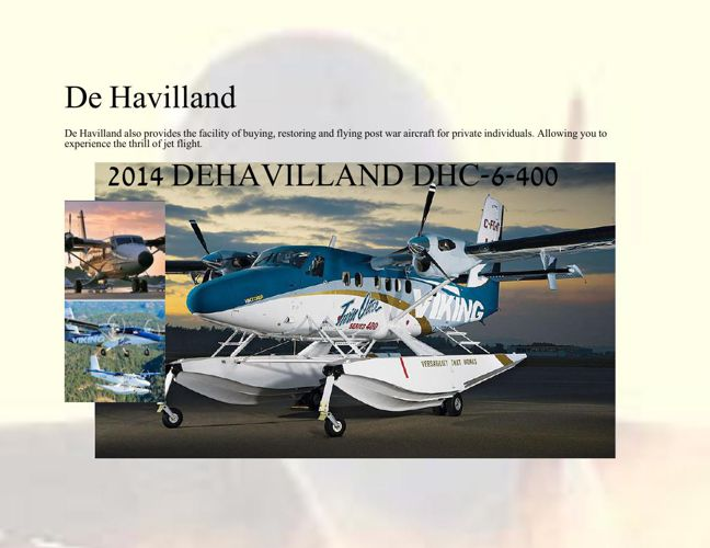 IGR With the New De Havilland For Sale !