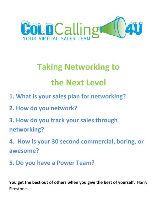 Cold Calling 4U 21st Century Sales Tool Kit