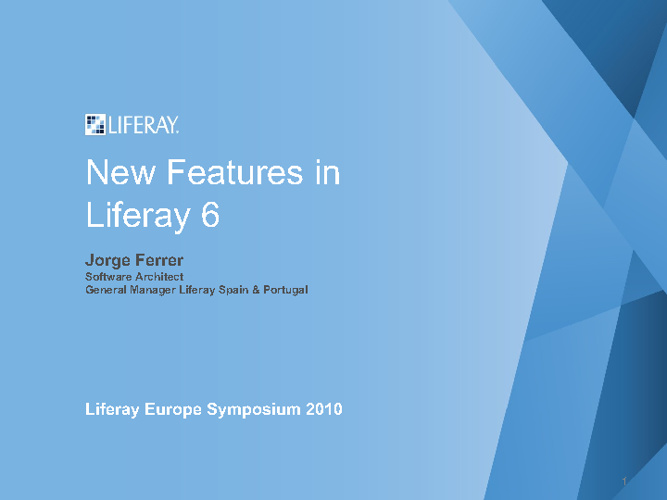 New Features in Liferay 6