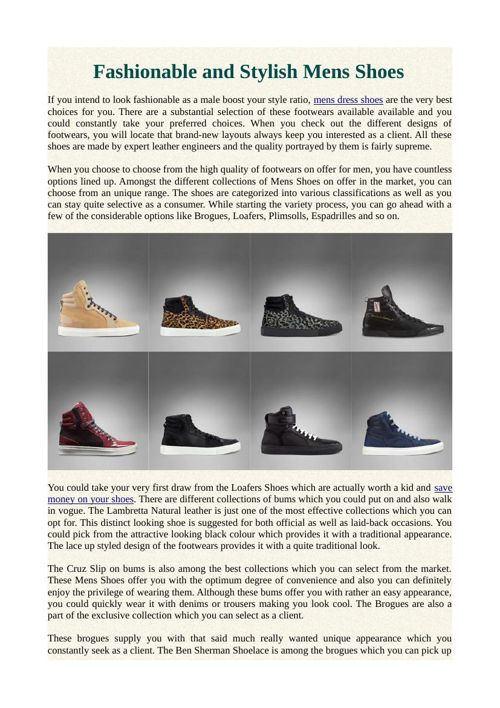 Fashionable and Stylish Mens Shoes