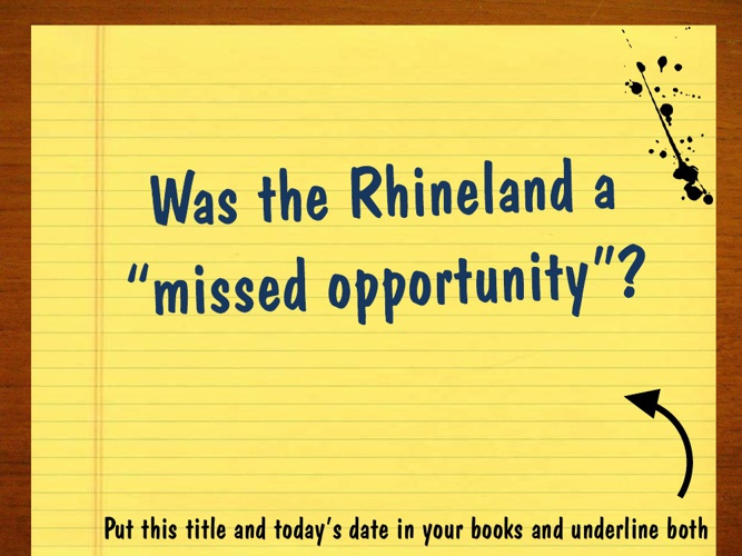 2. Rhineland