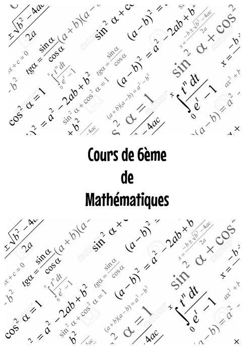Cours 6eme math