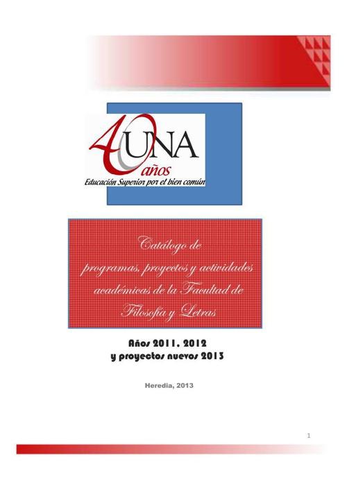 Catálogo 2013 proyectos